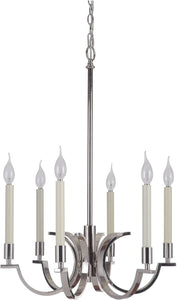 0-008795>Crescent 6-Light Chandelier Polished Nickel