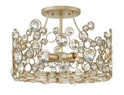 Anya 4-Light Semi Flush Mount in Silver Leaf*