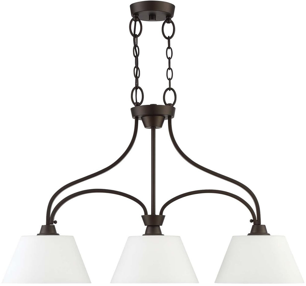 "34""W Grace 3-Light Island Pendant Light Espresso"