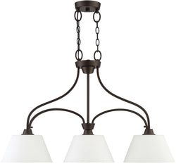 Grace 3-Light Island Pendant Light Espresso
