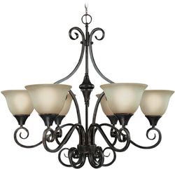 0-005100>Torrey 6-Light Chandelier Burnished Armor