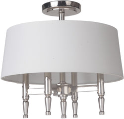 Ella 4-Light Semi Flush Polished Nickel