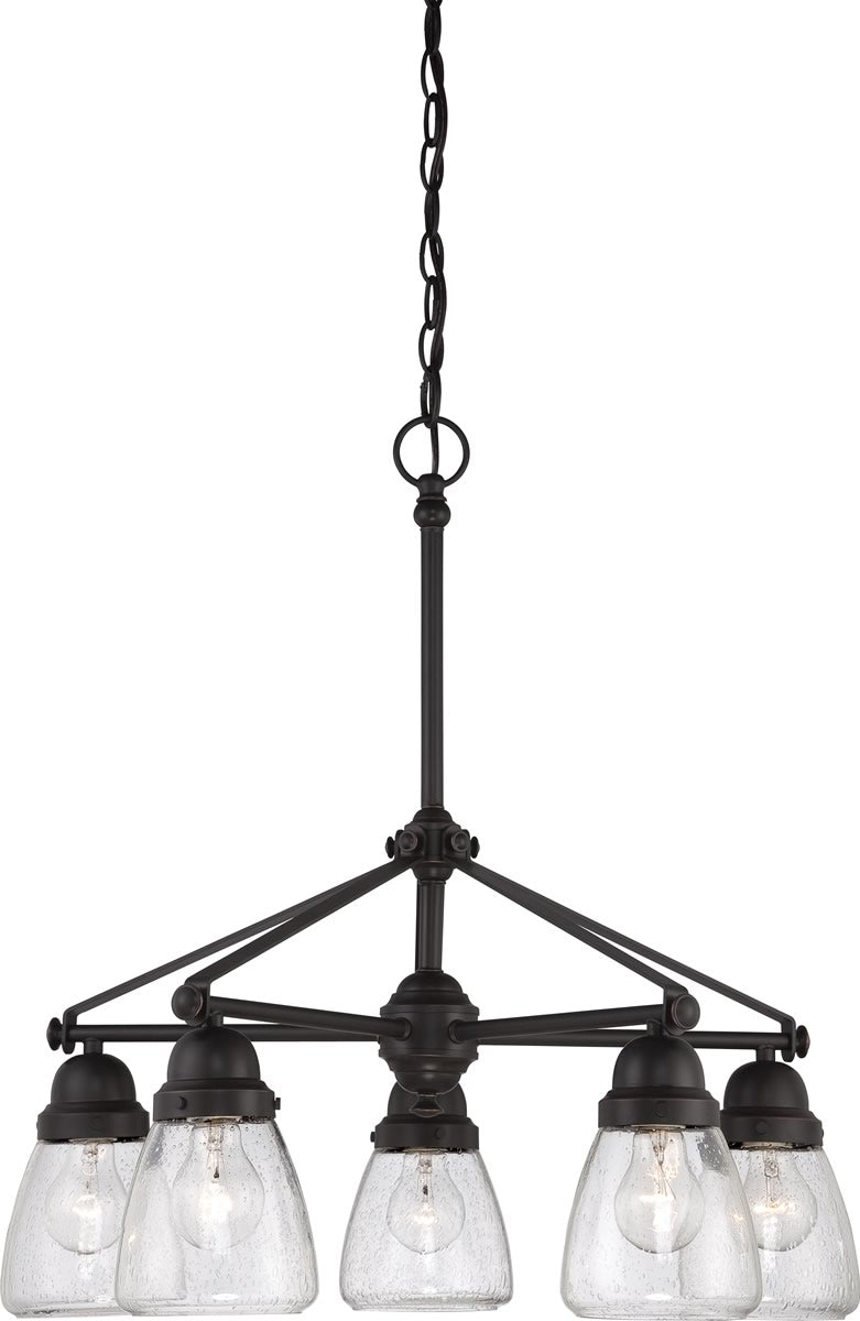 "23""W Laurel 5-Light Chandelier Sudbury Bronze"
