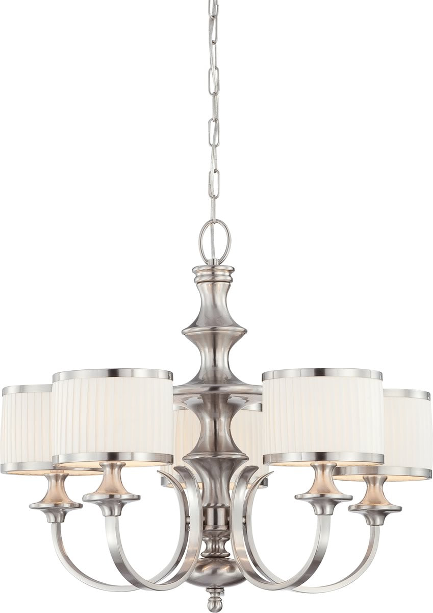 "28""W Candice 5-Light Chandelier Brushed Nickel"