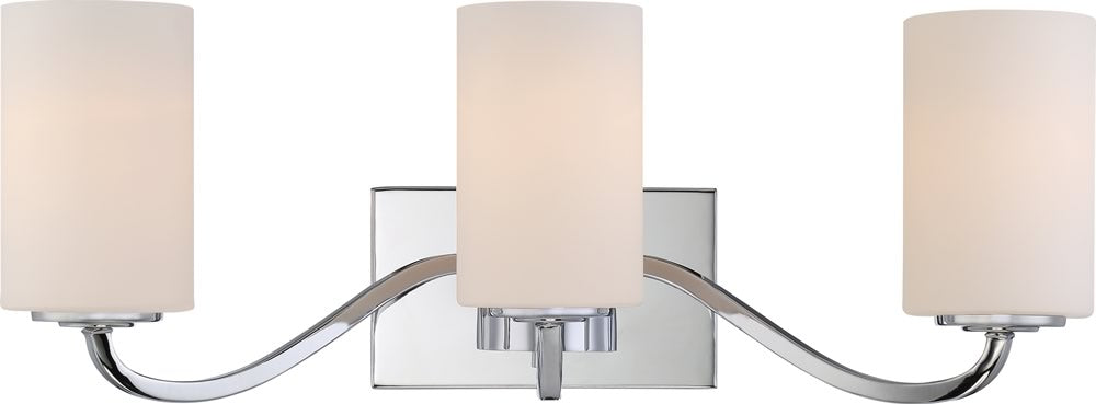 "23""W Willow 3-Light Vanity & Wall Polished Nickel"