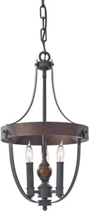 Feiss Alston 3-Light Single Tier Chandelier Charcoal Brick F27953AFCBA