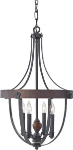 Feiss Alston 4-Light Single Tier Chandelier Charcoal Brick F27984AFCBA