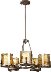 "28""w Aris 5-Light Chandelier Roman Bronze"