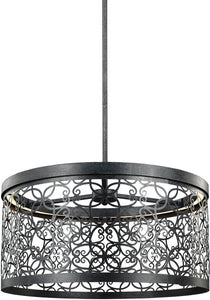 Feiss Arramore 1-Light Outdoor Pendant Dark Weathered Zinc F30971DWZLED