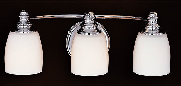 "7""w Bentley Chrome Three-Light Vanity Strip"