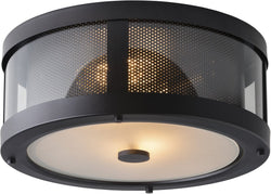 Feiss Bluffton 2 Light Flush Mount Oil Rubbed Bronze Fm396Orb