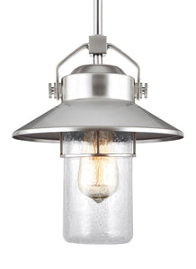 Boynton 1-Light Outdoor Pendant Lantern Painted Brushed Steel