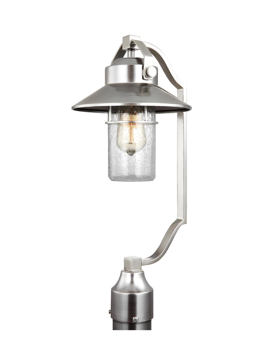 Boynton 1-Light Outdoor Post Lantern Painted Brushed Steel  sc 1 st  L&sUSA & Feiss Boynton 1-Light Outdoor Post Lantern Painted - LampsUSA