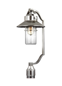 Feiss Boynton 1-Light Outdoor Post Lantern Painted Brushed Steel