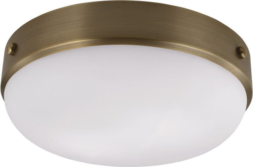 Feiss Cadence 2 Light Flush Mount Dark Antique Brass Fm390Dab