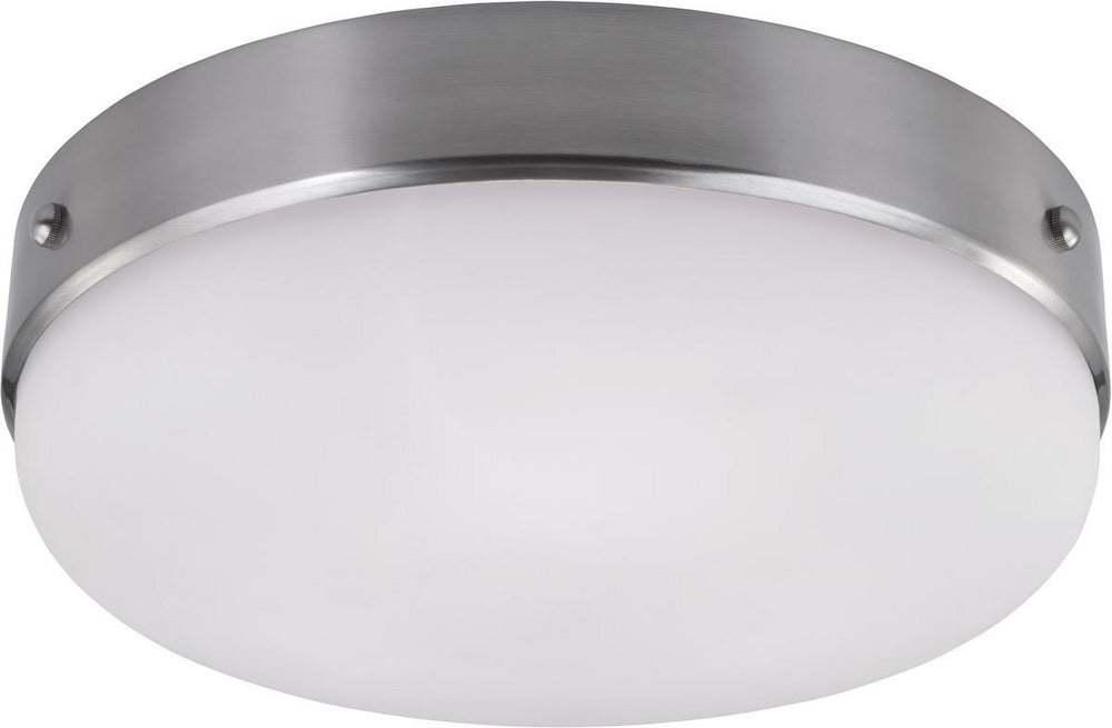 "16""W Cadence 3-Light Flush Mount Brushed Steel"