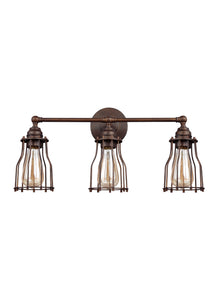 "22""w Calgary 3-Light Bath Vanity Parisian Bronze"