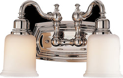 "5""w Canterbury 2-Light Vanity Polished Nickel"
