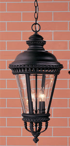 "13""w Castle Black Outdoor Hanging Lantern"