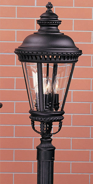 "28""h Castle Black Pier/Post Lantern"