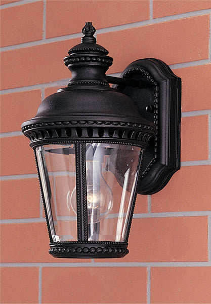 "12""h Castle Black Wall Mount Lantern"