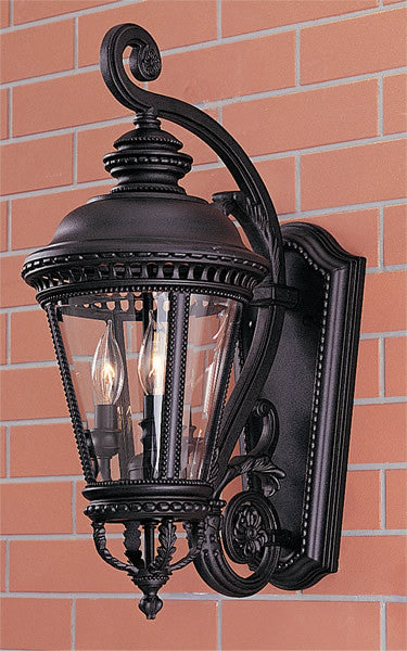 "23""H Castle Black Wall Mount Lantern"