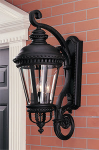 "32""h Castle Black Wall Mount Lantern"