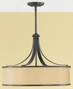 "23""w Casual Luxury 4-Light Uplight Pendant Dark Bronze"