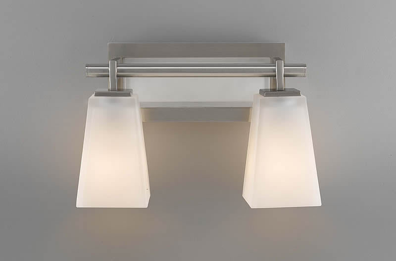 "13""w Clayton Two Light Vanity Brushed Steel"