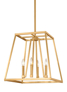 Feiss Conant 4-Light Chandelier Gilded Satin Brass