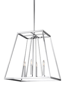 Feiss Conant 4-Light Chandelier Chrome