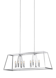 Feiss Conant 8-Light Island Chandelier Chrome