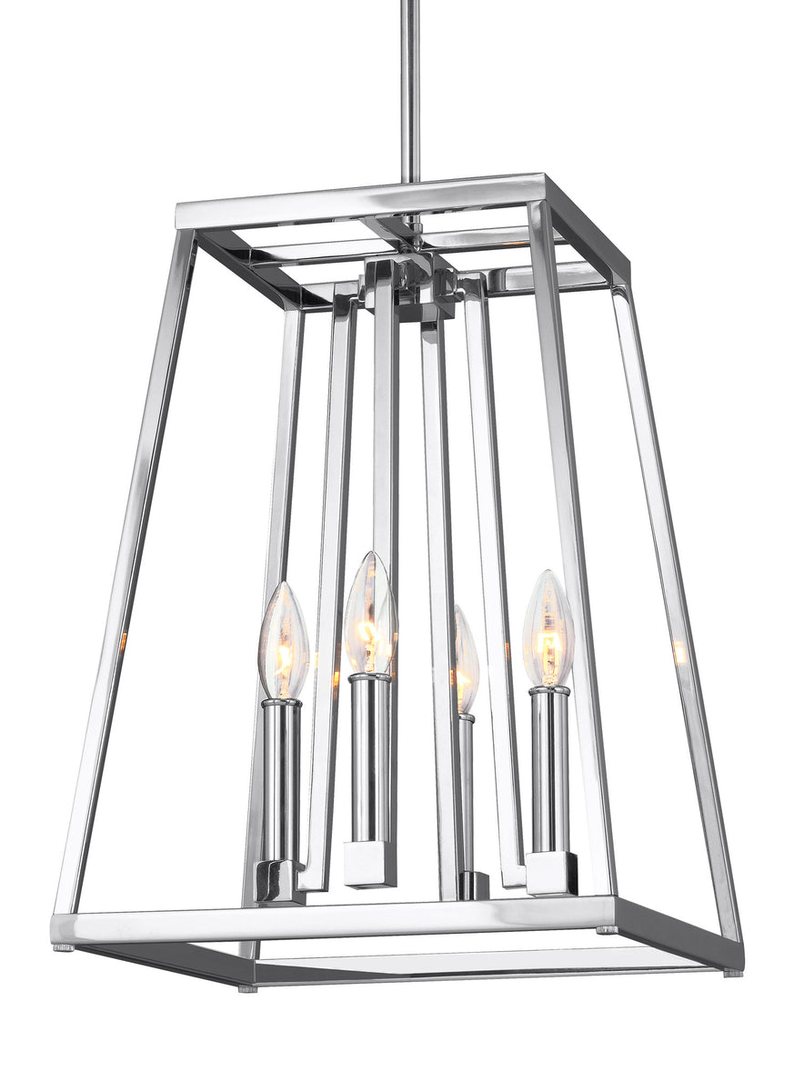 "13""W Conant 4-Light Pendant Chrome"