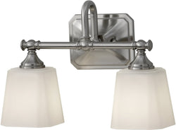 Feiss Concord 2-Light Bath Vanity Brushed Steel VS19702BS