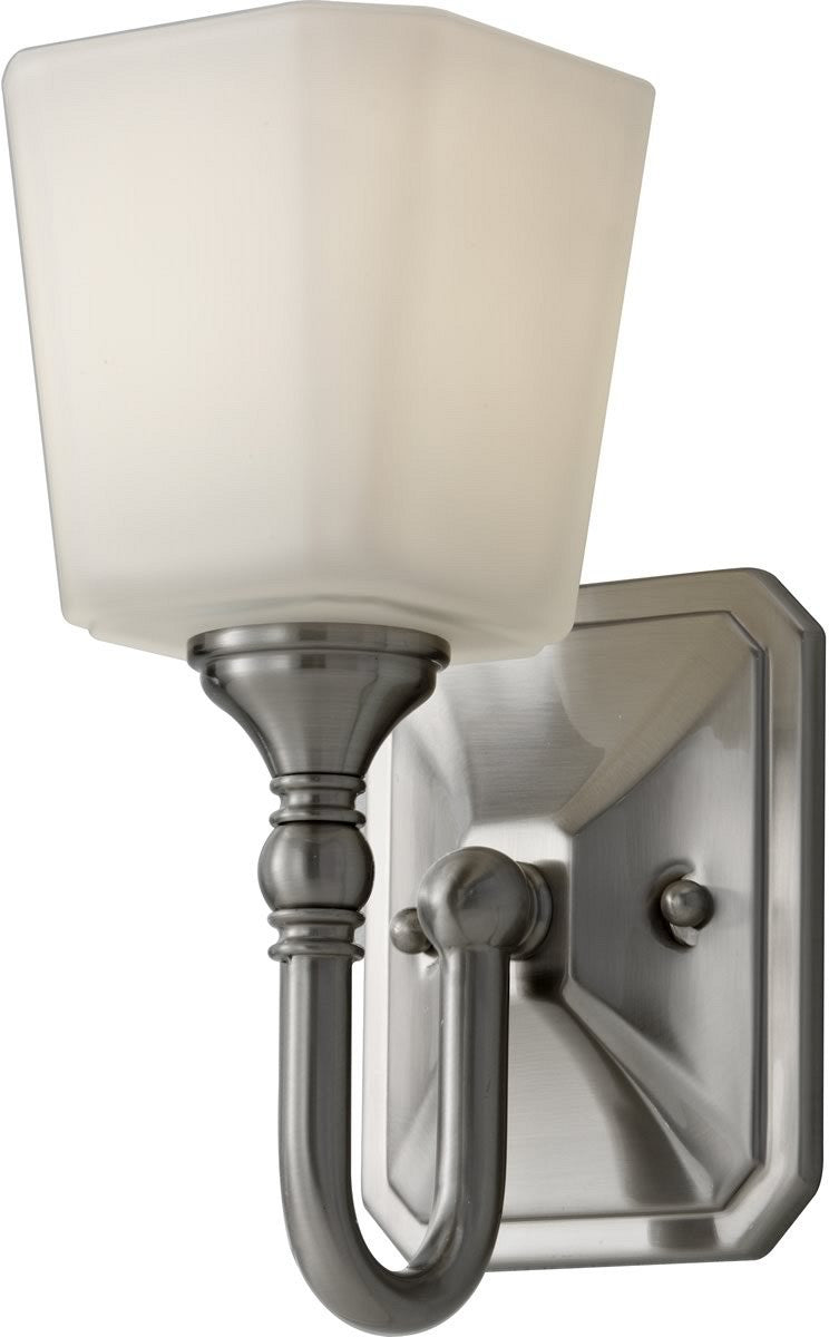 "5""W Concord 1-Light Bath Vanity Light Brushed Steel"