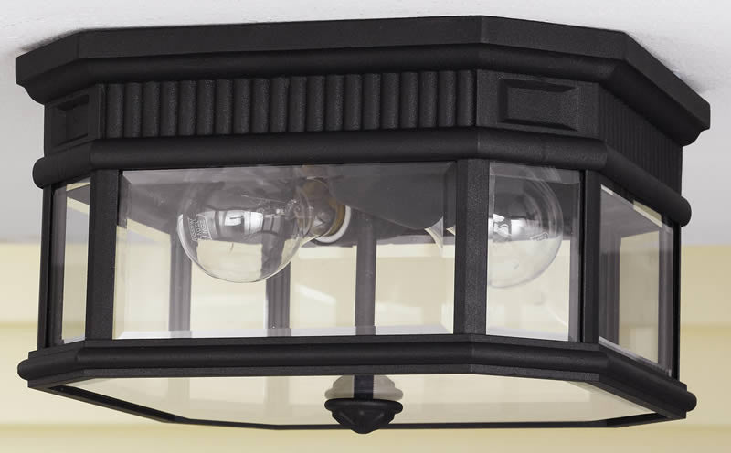 "12""w Cotswold Lane Outdoor Lantern Black"
