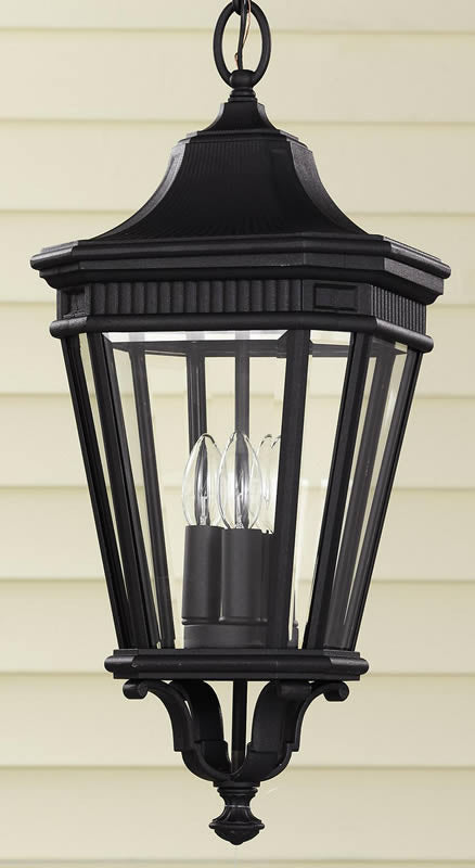 "10""w Cotswold Lane Outdoor Lantern Black"
