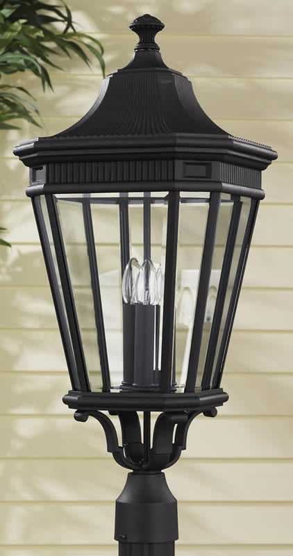 "28""H Cotswold Lane Outdoor Lantern Black"