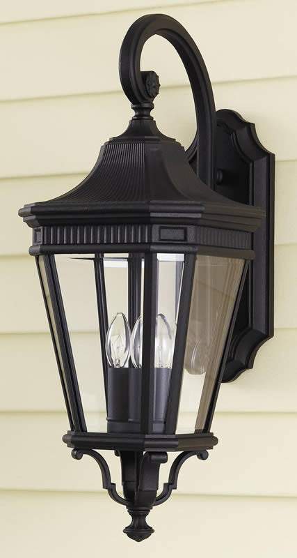 "24""h Cotswold Lane Outdoor Lantern Black"