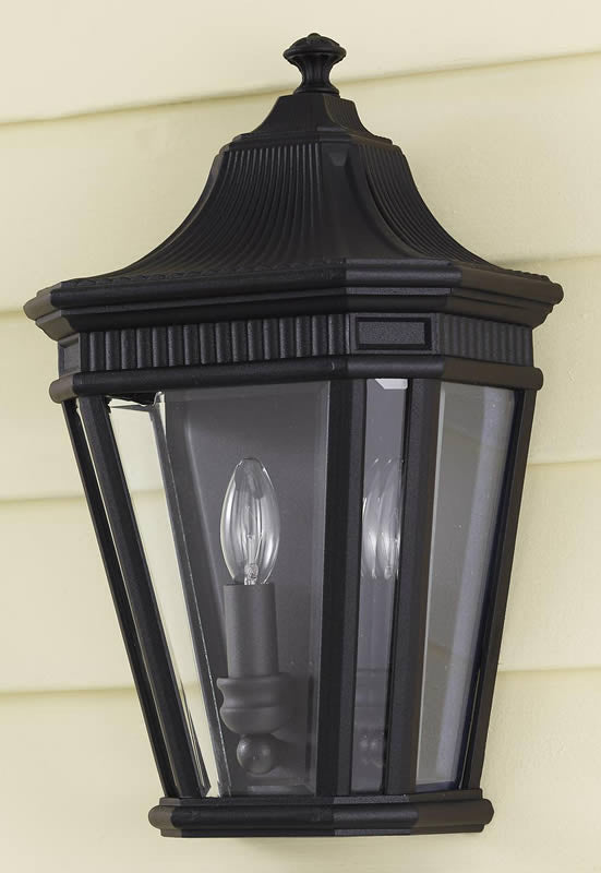 "16""h Cotswold Lane Outdoor Lantern Black"