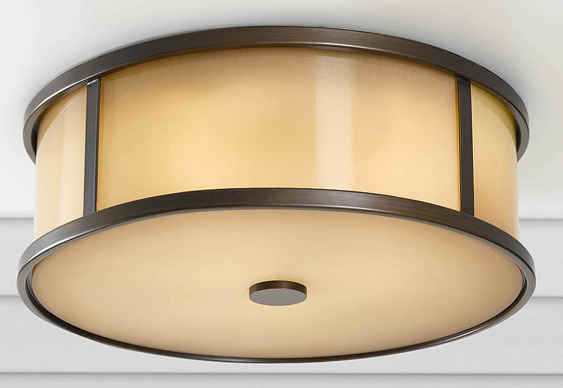"14""w Dakota Outdoor Flush Mount Heritage Bronze"