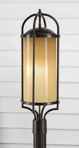 Feiss Dakota Outdoor Post Lantern Heritage Bronze OL7607HTBZ