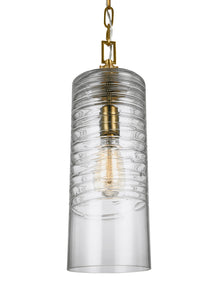 Feiss Elmore 1-Light Pendant Burnished Brass