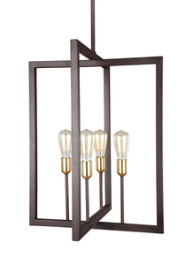 Feiss Finnegan 4-Light Chandelier New World Bronze
