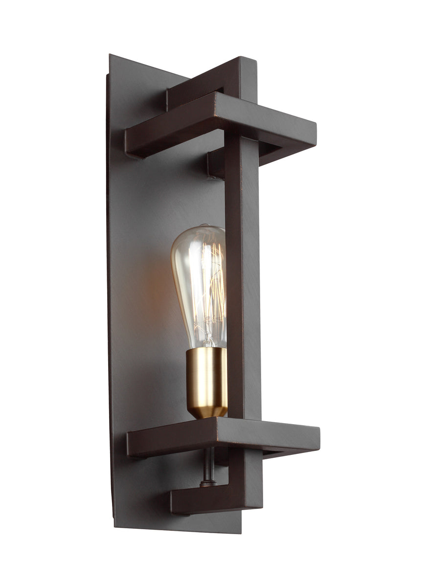 "6""W Finnegan 1-Light Wall Sconce New World Bronze"