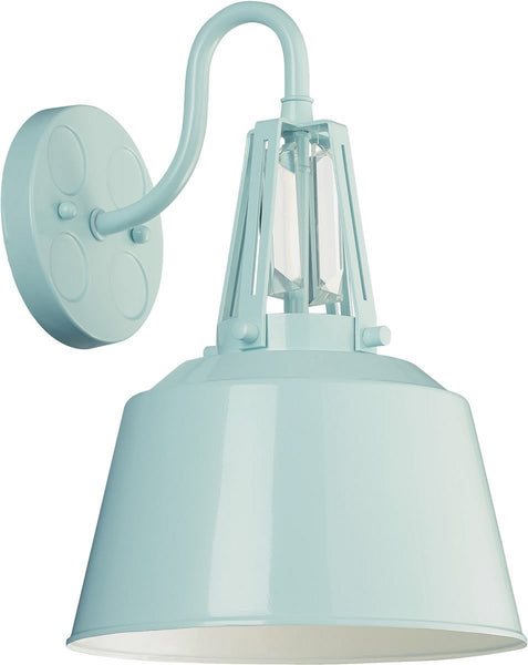 Feiss Freemont 1 Light Wall Sconce Hi Gloss Blue Wb1726Shbl