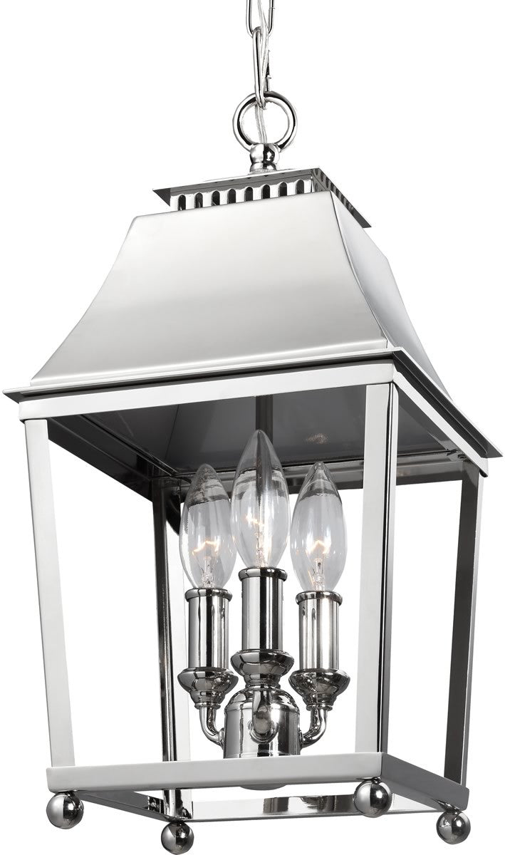 "9""W Galloway 3-Light Indoor Pendant Polished Nickel"