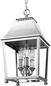 Galloway 3-Light Pendant Polished Nickel