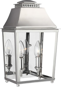 Feiss Galloway 2-Light Outdoor Wall Light Polished Nickel WB1813PN