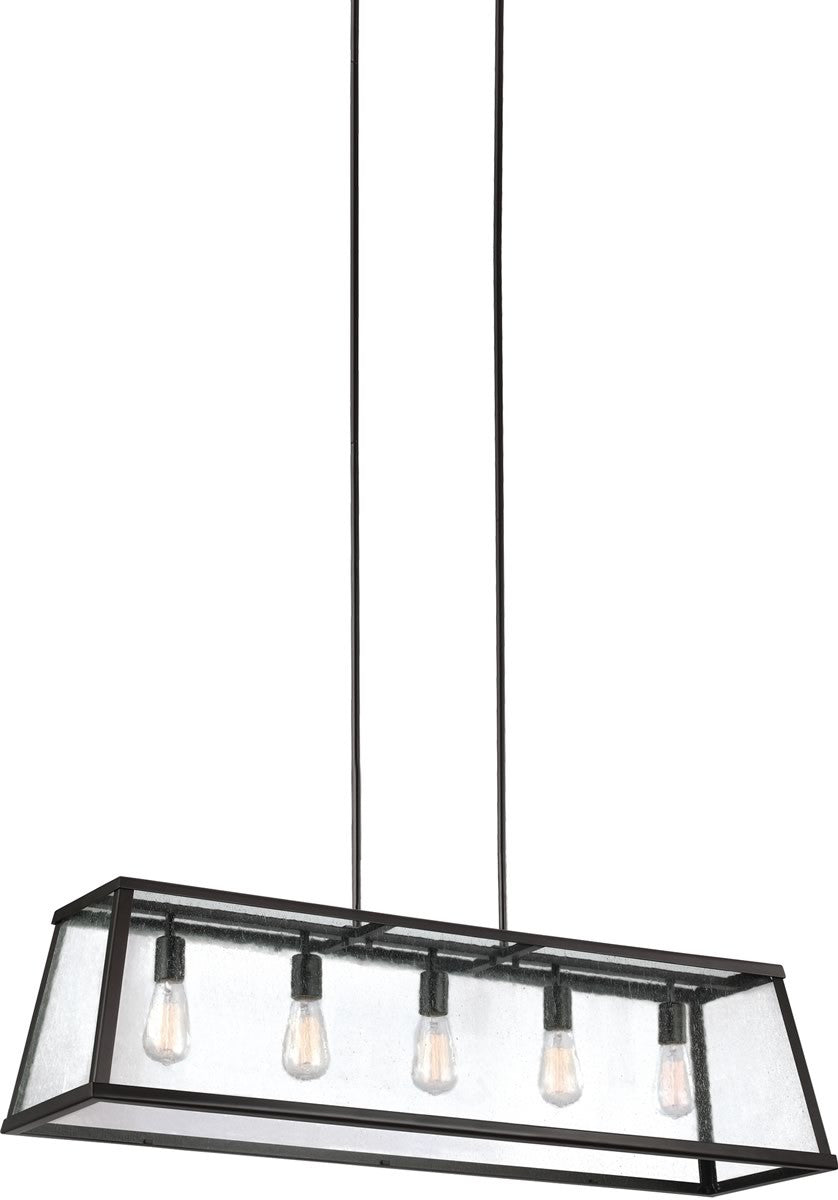"44""W Harrow 5-Light Chandelier Oil Rubbed Bronze"